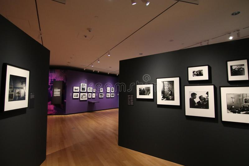 Galerie de photographie, musée de ville de New-York images libres de droits