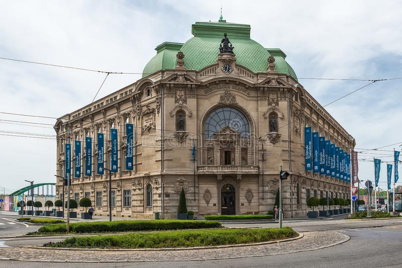 Galerie de projet de bord de mer de Belgrade dans Savamala, l'ancien bâtiment de Geozavod, construit entre 1905 et 1907, reconstr images libres de droits