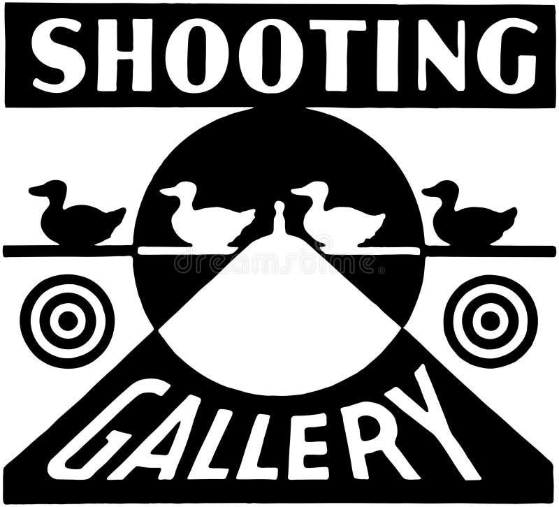 Galerie de tir illustration de vecteur