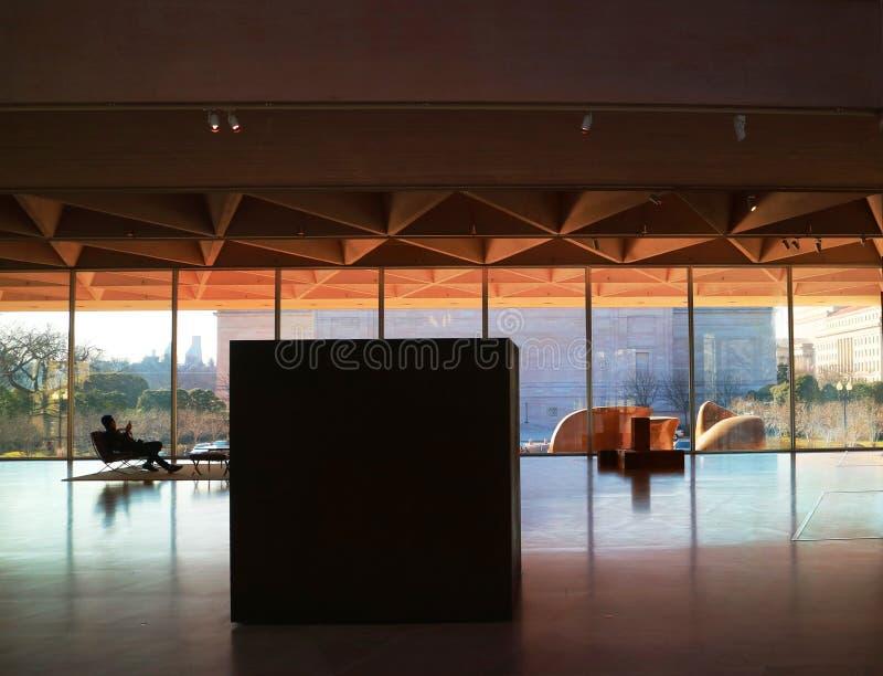 Galerie de Washington DC de lobby de musée d'art images libres de droits