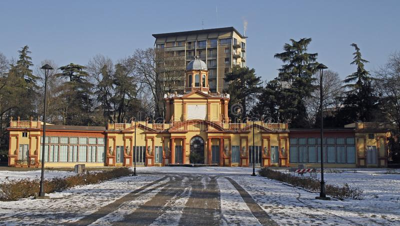 Galerie des arts modernes en parc de Ducale images stock