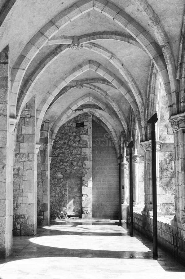 Galerie des Klosters stockfotos