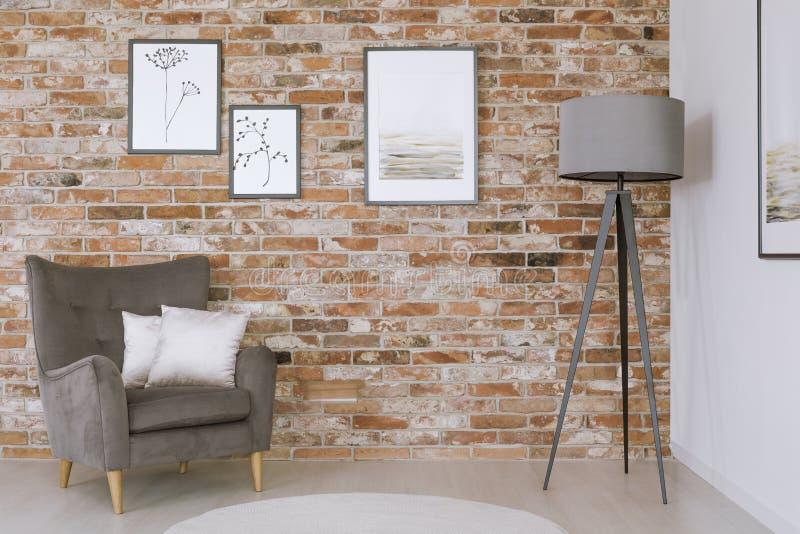 Galerie im klassischen Wohnzimmer stockbilder