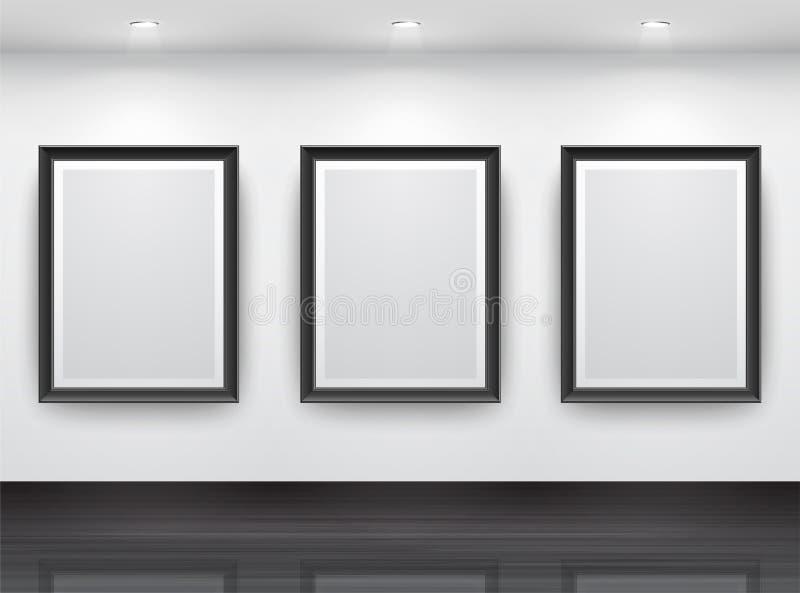 Galerie-Innenraum stock abbildung
