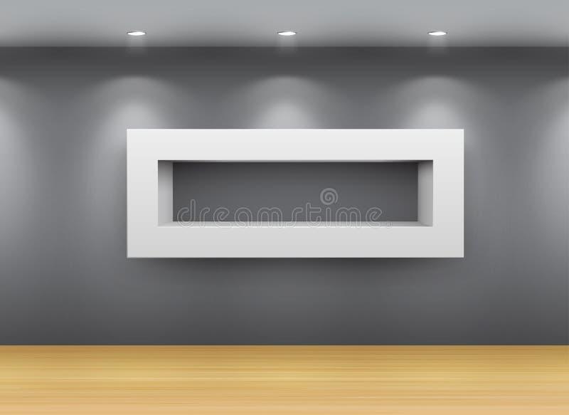 Galerie-Innenraum vektor abbildung
