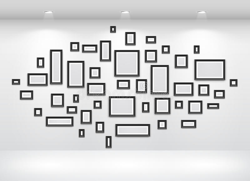 Galerie-Innenraum mit leerem vektor abbildung