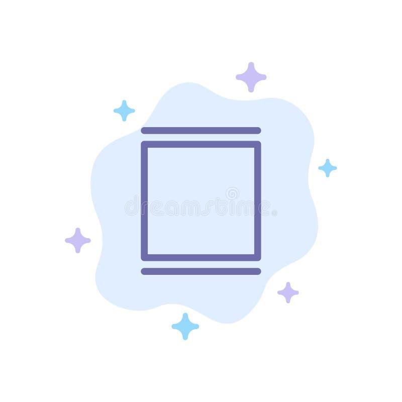 Galerie, Instagram, ensembles, icône bleue de chronologie sur le fond abstrait de nuage illustration stock