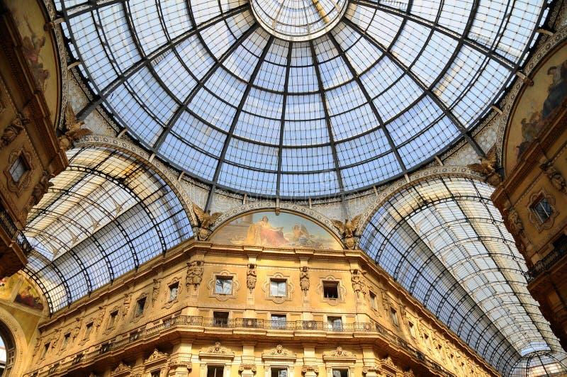 Galerie in Mailand lizenzfreie stockfotografie