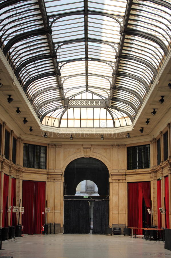 Galerie mit cristal Haube stockfoto