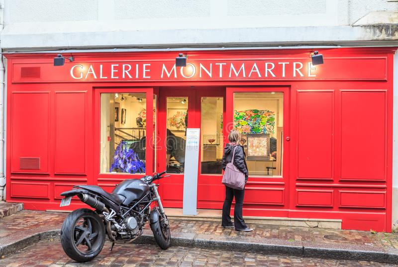 Galerie Montmartre, Montmartre, Παρίσι, Ile de France στοκ εικόνες