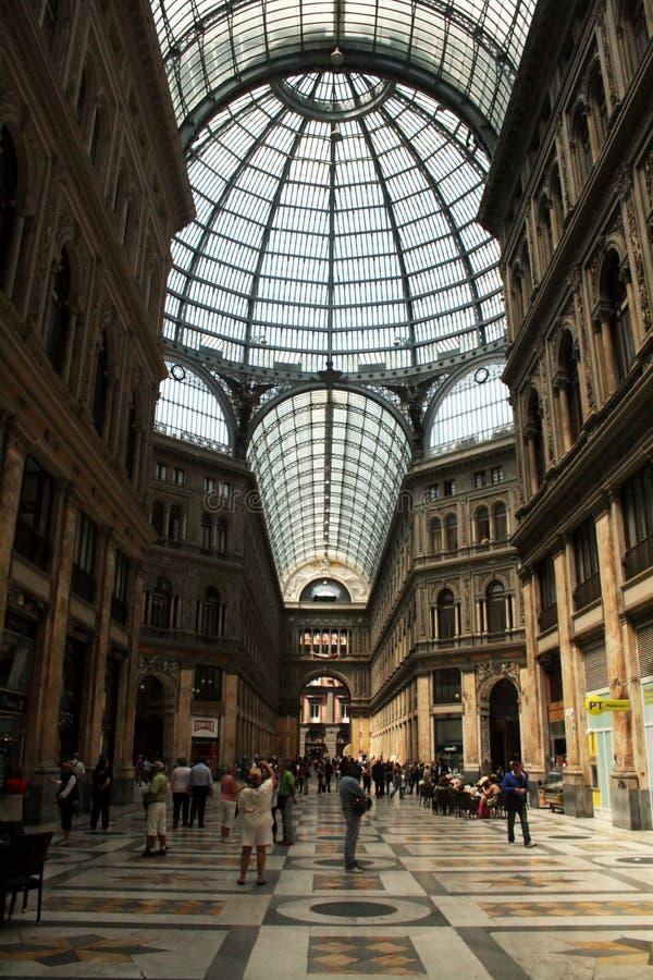 Galerie Umberto I stockfotografie