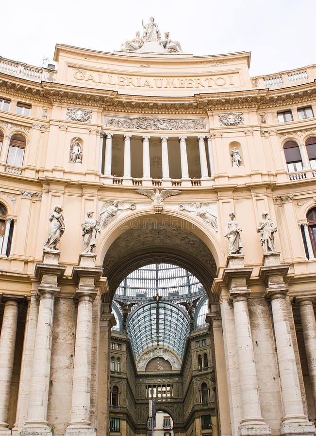 Galerie Umberto-I in Neapel lizenzfreie stockbilder