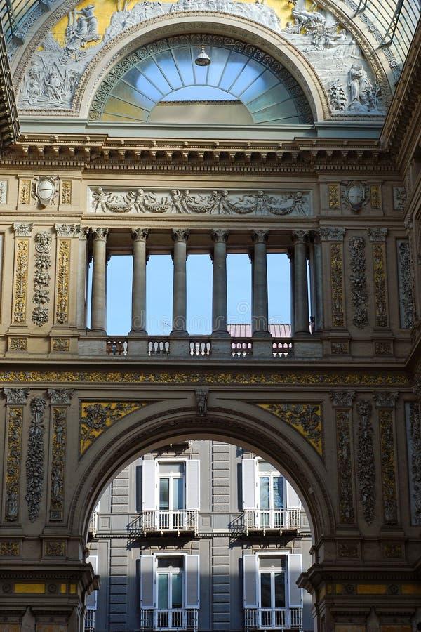 Galerie-Umberto-UNO in Neapel lizenzfreie stockbilder