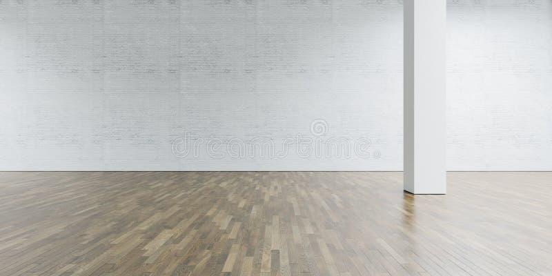Galerie und Spalte des offenen Raumes in der Mitte ziegelstein lizenzfreies stockfoto