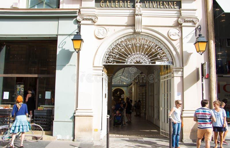 The Galerie Vivienne, Paris, France. stock images