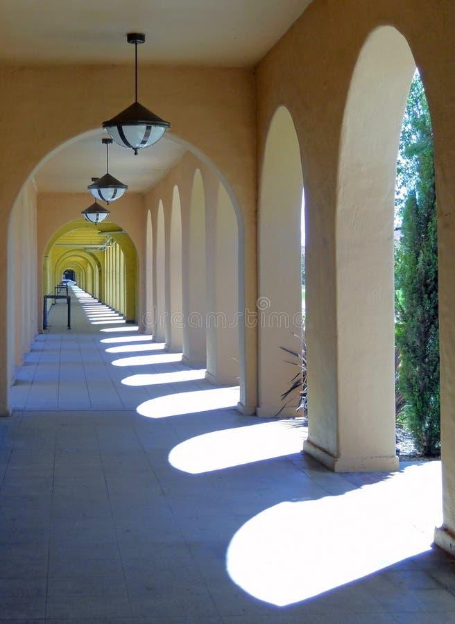 Galerie von Symmetrie lizenzfreies stockbild