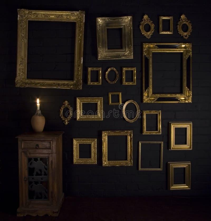 Galeriebildschirmanzeige lizenzfreie stockbilder