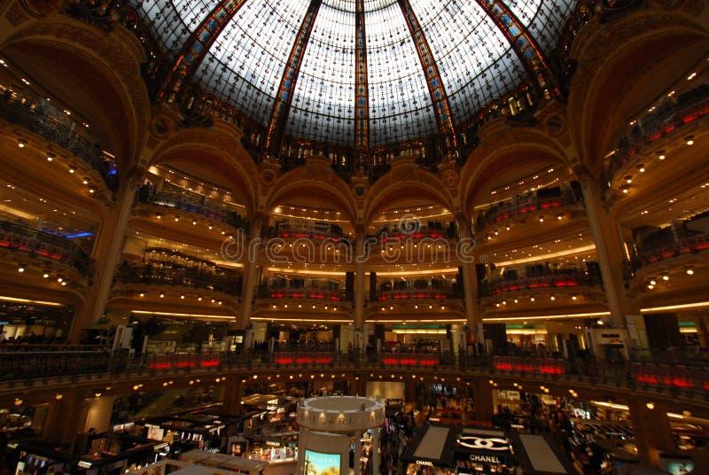 Galeries拉斐特商店,大厦,商城,大都会,城市 库存照片