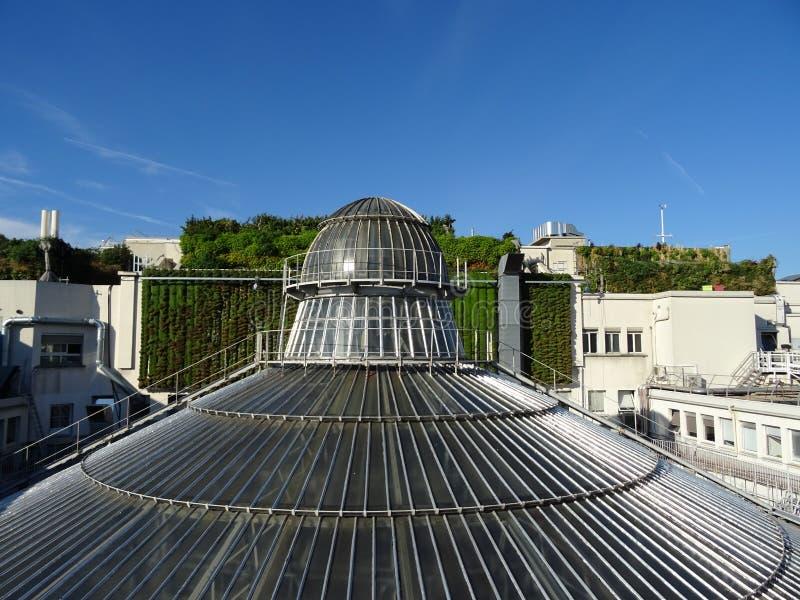 Galeries拉斐特的玻璃圆顶在巴黎 免版税图库摄影