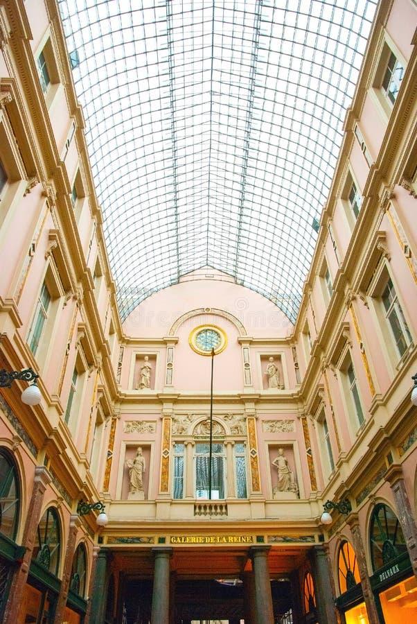 Galeries de Sait Hubert, Brüssel, Belgien stockfotos
