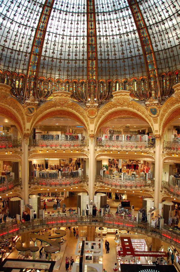 Galeries Lafayette images stock