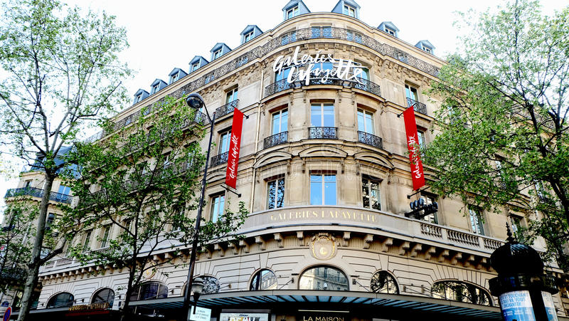 Galeries Lafayette royalty-vrije stock foto