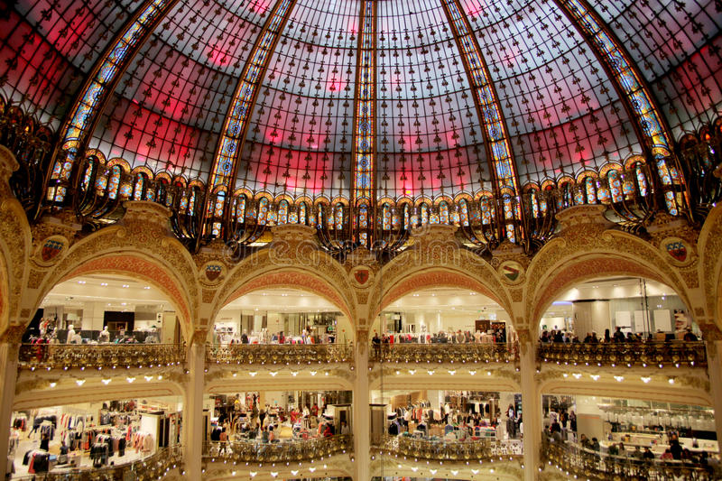 Galeries Lafayette Dome royalty free stock images