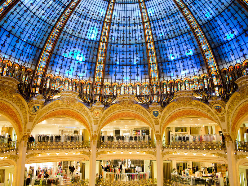 Galeries Lafayette royalty free stock photo