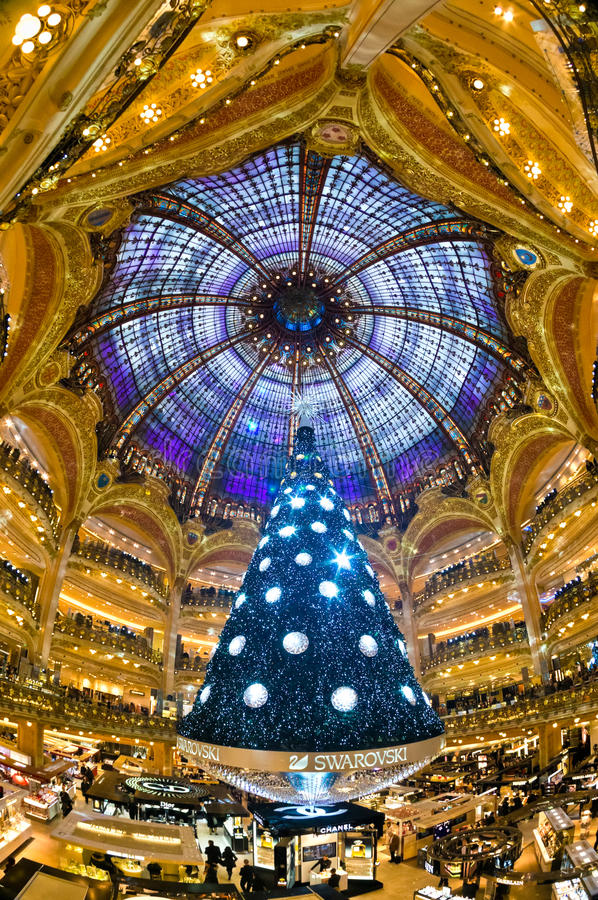 Galeries Lafayette, Paris. stockfotos