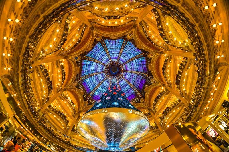 Galeries Lafayette, Paris. stockfotografie