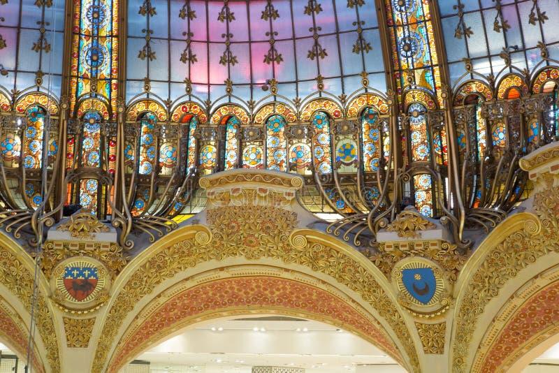 Galeries Lafayette Paris foto de stock