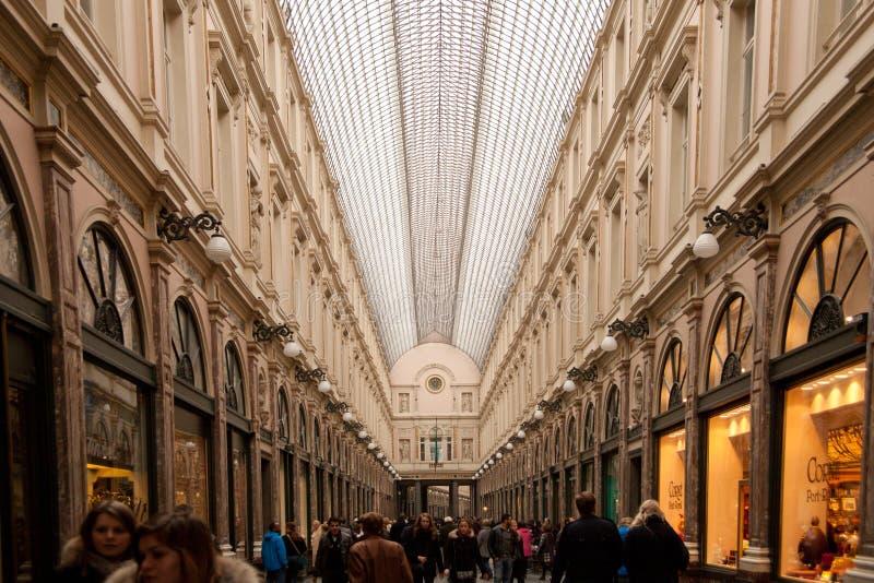 Galeries royales de saint Hubert à Bruxelles image libre de droits