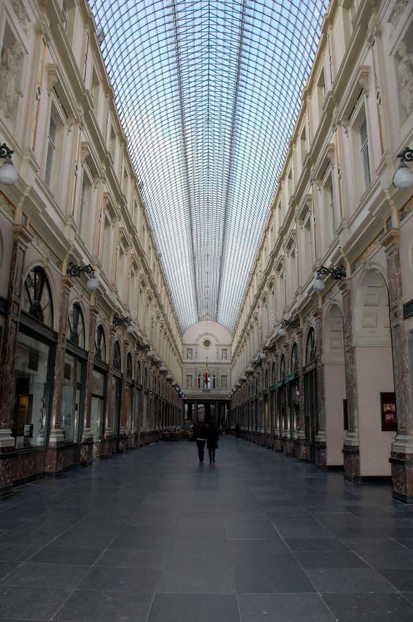 Galeries royales de Saint-Hubert à Bruxelles photographie stock