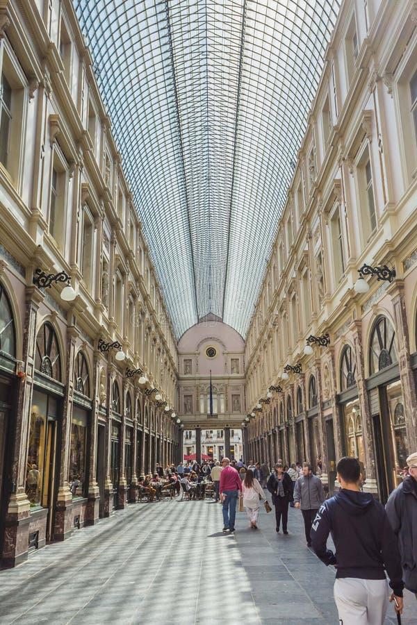 Galeriest. Hubert in Brüssel Belgien stockbilder