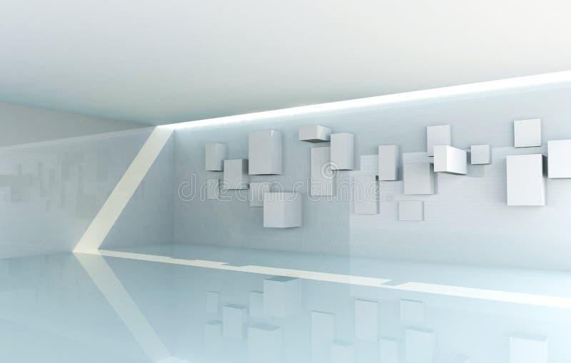 Galerii abstrakcjonistyczny Wnętrze ilustracji