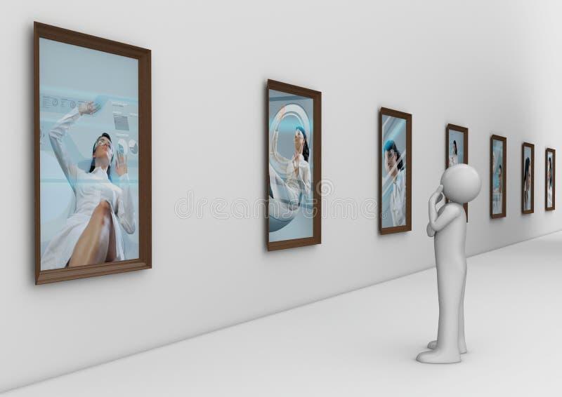 galerii mężczyzna nowożytna fotografia royalty ilustracja