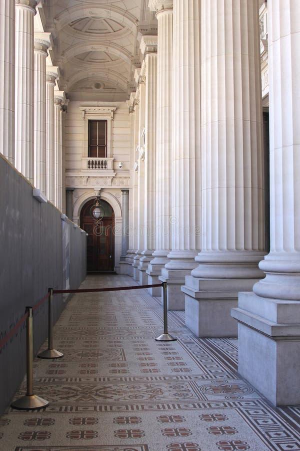 Galerij in het het Parlement Huis van Victoria, Melbourne, Australië stock afbeelding