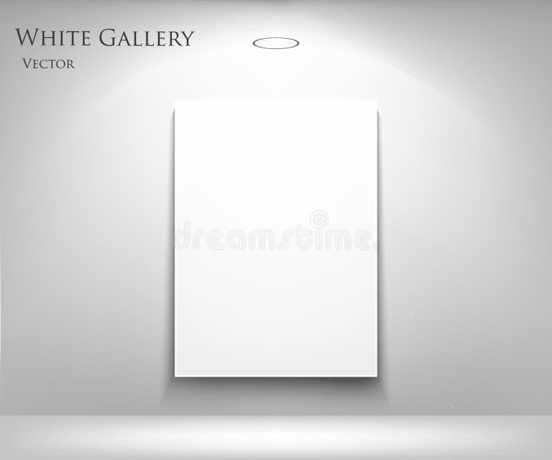 Galerij met leeg kader royalty-vrije illustratie