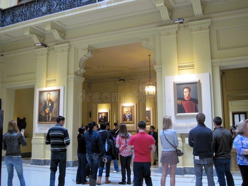 Galerij van de Latijns-Amerikaanse die Patriotten van Tweehonderdjarig, op de benedenverdieping van het paleis van Casa Rosada wo royalty-vrije stock fotografie