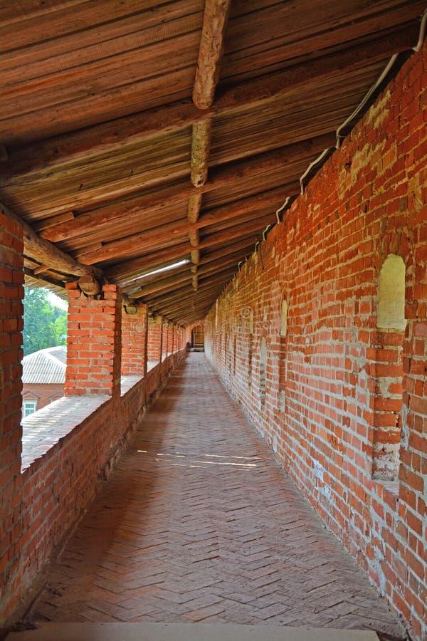 Galerij van de muur van Zaraysk het Kremlin royalty-vrije stock afbeelding