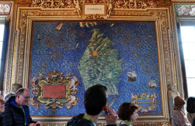 Galerij van Kaarten De Stad van Vatikaan, Italië stock fotografie