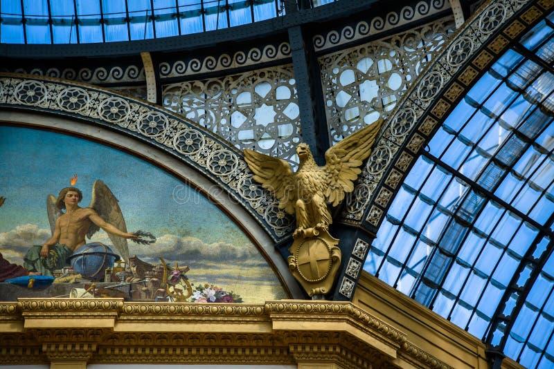 Galerij Vittorio Emanuele II in centraal Milaan, Italië royalty-vrije stock afbeelding