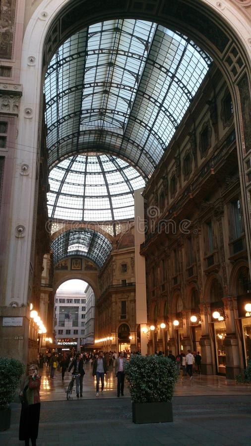 Galerij Vittorio Emanuele II de ingangspoort van Milaan royalty-vrije stock foto's