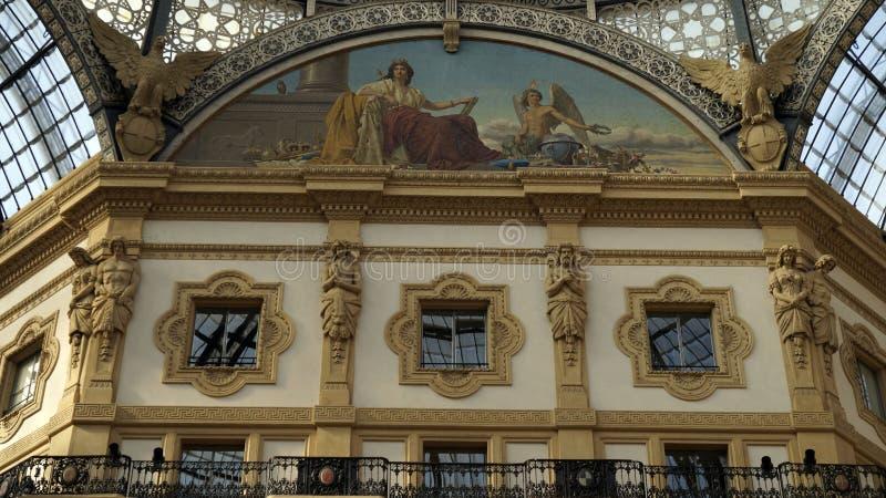 Galerij Vittorio Emmanuele II, details milaan Italië royalty-vrije stock afbeelding