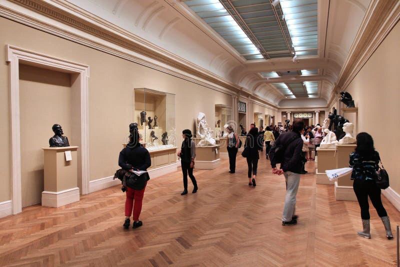 Galerijbezoekers royalty-vrije stock afbeelding