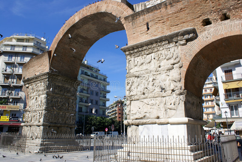 Galerios Arch stock photos