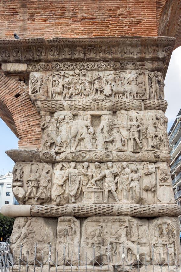Galerius罗马曲拱在市的中心塞萨罗尼基,中马其顿,希腊 库存照片
