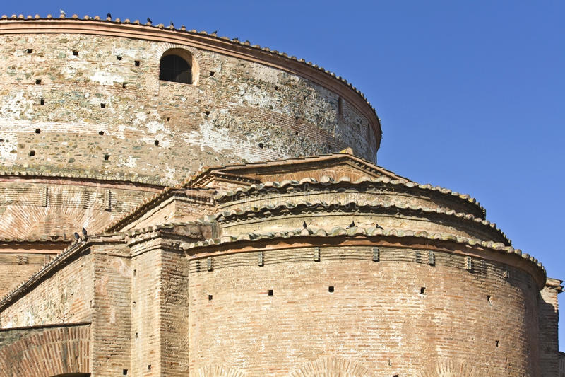 Galerius palace (Rotonda) temple at Thessaloniki royalty free stock images