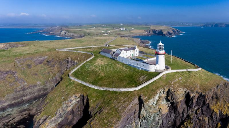 Galery kierownicza latarnia morska Okręgu administracyjnego korek Irlandia zdjęcie royalty free