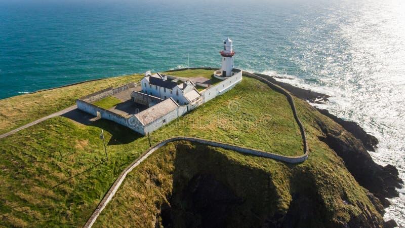 Galery kierownicza latarnia morska Okręgu administracyjnego korek Irlandia obraz royalty free